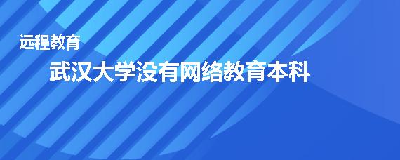 武汉大学有网络教育本科吗