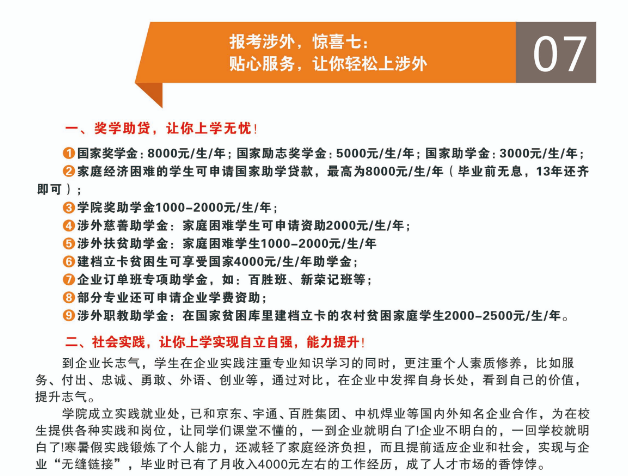 信阳涉外学院2020年高职单招招生简章