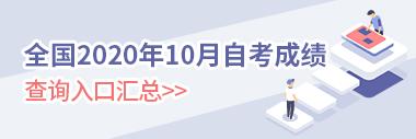 2020年10月自学考试成绩查询入口