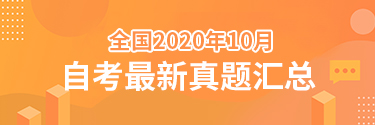 2020年10月自考真题查询